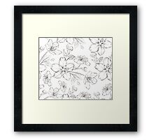 Cherry blossom seamless pattern. Framed Print