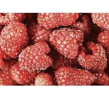 Red Raspberry Fruits Photographic Print