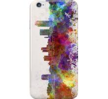 Little Rock skyline in watercolor background iPhone Case/Skin