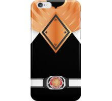 MMPR Armoured Black Ranger Uniform iPhone Case/Skin