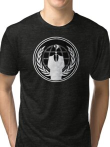 Anonymous (for dark-coloured shirts (NOT hoodies) Tri-blend T-Shirt