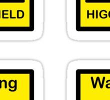 SCP Warning - Higgs Field Sticker