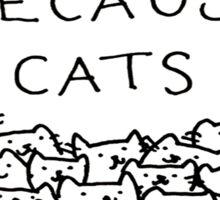 paced cat Sticker