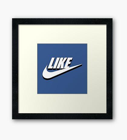 Like sport social media Framed Print