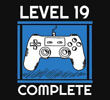 Level 19 Complete Funny Video Games 19 Birthday Gift T-Shirt Unisex T-Shirt