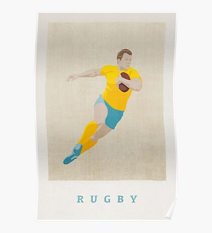 SUMMER GAMES / Rugby Poster