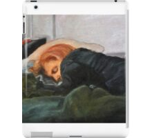 Dana Scully missing Fox Mulder iPad Case/Skin