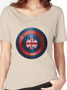 CAPTAIN BRITAIN - Captain America inspired British shield Women's Relaxed Fit T-Shirt
