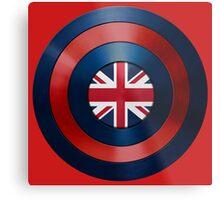 CAPTAIN BRITAIN - Captain America inspired British shield Metal Print