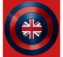 CAPTAIN BRITAIN - Captain America inspired British shield Photographic Print