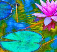 Lily Pad Lotus Blossom Sticker