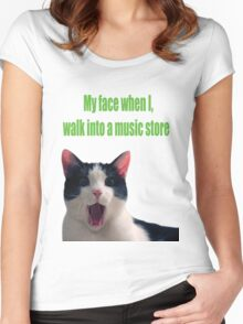 Music Store Women's Fitted Scoop T-Shirt