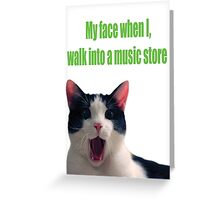 Music Store Greeting Card
