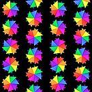 rainbow pinwheels by poupoune