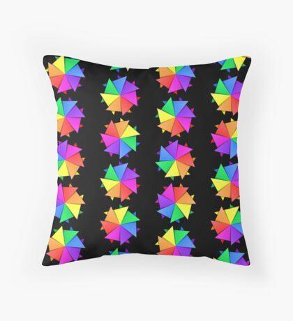 rainbow pinwheels Throw Pillow