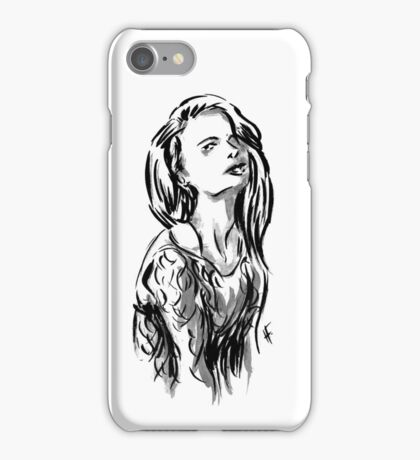 Brush Pose iPhone Case/Skin