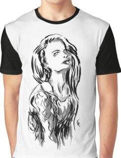 Brush Pose Graphic T-Shirt