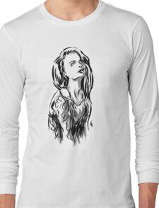 Brush Pose Long Sleeve T-Shirt