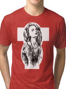 Brush Pose Tri-blend T-Shirt