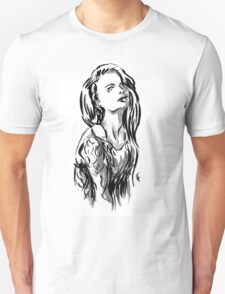 Brush Pose Unisex T-Shirt