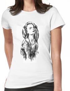 Brush Pose Womens Fitted T-Shirt
