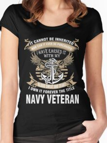 Veteran T-Shirts & Shirts : Forever The Title Navy Veteran Women's Fitted Scoop T-Shirt