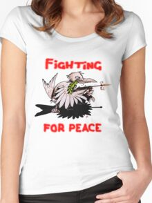 Fighting For Peace (3) Women's Fitted Scoop T-Shirt