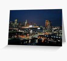 Melbourne at Night Greeting Card