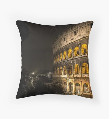 Colosseum // Rome Throw Pillow