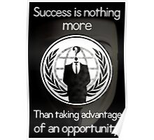 Anonymous (Sucess) Poster Poster