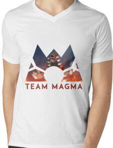 Pokemon Team Magma Mens V-Neck T-Shirt