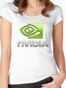 Nvidia Women's Fitted Scoop T-Shirt