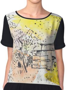 The Old Shed Out the Back Chiffon Top