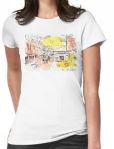 The Old Shed Out the Back Womens Fitted T-Shirt