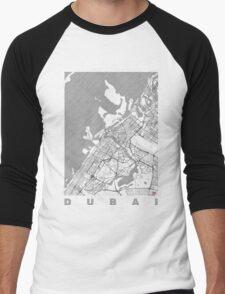 Dubai Map Line Men's Baseball ¾ T-Shirt