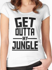Get Outta My Jungle Women's Fitted Scoop T-Shirt