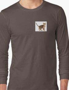 Cute cat nacked  Long Sleeve T-Shirt