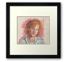 Dana Scully's sceptic face Framed Print