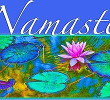 Yoga Lotust Namaste by AntiqueImages