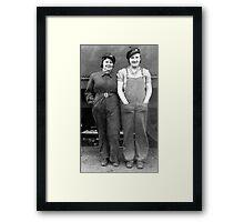 Women workers, Darnall Goods Depot, Sheffield, 1940s Framed Print