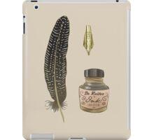Writers gold iPad Case/Skin