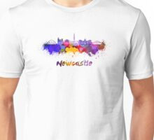 Newcastle skyline in watercolor Unisex T-Shirt