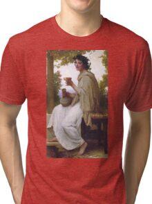 Bacchante by William Bouguereau Tri-blend T-Shirt