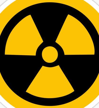 Yellow Radioactive Sticker