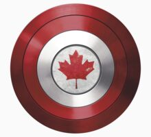 CAPTAIN CANADA - Captain America inspired Canadian shield Kids Tee