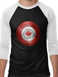 CAPTAIN CANADA - Captain America inspired Canadian shield Men's Baseball ¾ T-Shirt