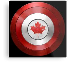 CAPTAIN CANADA - Captain America inspired Canadian shield Metal Print