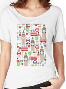 London Pattern Women's Relaxed Fit T-Shirt