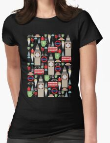 London Pattern Womens Fitted T-Shirt