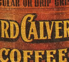 Vintage Lord Calvert Coffee Can Illustration,Vintage Dictionary Art Collage Sticker